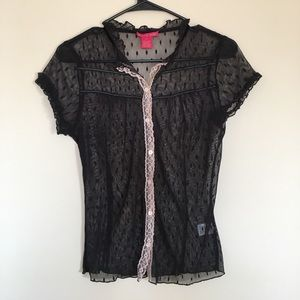 Sunny Leigh lace button up blouse